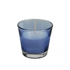 Glass filled with wax Ø 90 mm · 80 mm dark blue