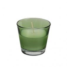 Glass filled with wax Ø 90 mm · 80 mm dark green