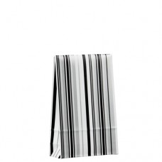 "20 Gift bags 15.5 cm x 10 cm x 4 cm ""Stripes black&white"" small"