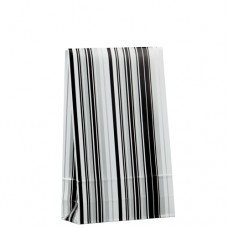 "20 Gift bags 23 cm x 14 cm x 5.5 cm ""Stripes black&white"" medium"