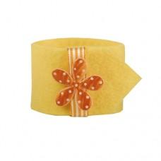 """4 Napkin rings Ø 4 cm yellow """"Flower"""""""