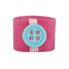 "4 Napkin rings Ø 4 cm pink ""Button"""