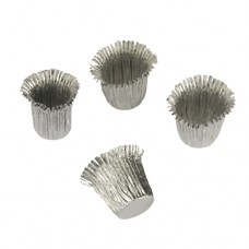 18 Candle sleeves Ø 1.9 cm · 2.7 cm silver