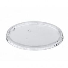 100 Lids for packaging cups, PP round Ø 10.1 cm · 0.8 cm transparent