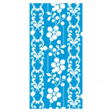 "12 Napkins, 3-ply ""Design Edition"" 1/8 fold 33 cm x 33 cm turquoise ""Graphic Flower"""