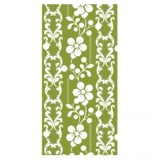 "12 Napkins, 3-ply ""Design Edition"" 1/8 fold 33 cm x 33 cm olive ""Graphic Flower"""