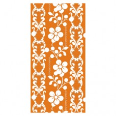 "12 Napkins, 3-ply ""Design Edition"" 1/8 fold 33 cm x 33 cm orange ""Graphic Flower"""