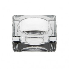Candle holder, glass square 27 mm x 60 mm x 60 mm crystal clear for tealights