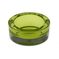 Candle holder, glass round Ø 65 mm · 27 mm green for tealights