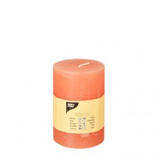 "Cylinder candles Ø 70 mm · 100 mm nectarine ""Rustic"" completely coloured"