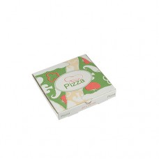 """100 Pizza boxes of 100% cellulose """"pure"""" square 20 cm x 20 cm x 3 cm"""