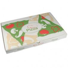 """50 Pizza boxes of 100% cellulose """"pure"""" square 40 cm x 60 cm x 5 cm"""