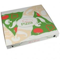 """50 Pizza boxes of 100% cellulose """"pure"""" square 50 cm x 50 cm x 5 cm"""