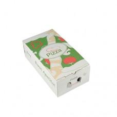 """100 Pizza boxes of 100% cellulose """"pure"""" square 30 cm x 16 cm x 10 cm"""
