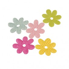 "3 Deco accessories Ø 52 mm colours assorted ""Hannah"""