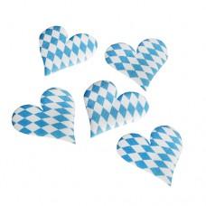 """7 Deco accessories 45 mm x 45 mm x 2 mm """"Bavarian blue"""""""