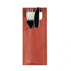 520 Bags for cutlery 20 cm x 8.5 cm bordeaux incl. white napkin 33 x 33 cm 2-ply