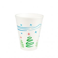 "50 Thermo cups, EPS 0.25 l Ø 8.5 cm · 10.2 cm white ""Christmas tree"""
