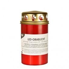 LED gravelight Ø 68 mm · 130 mm red batteries included