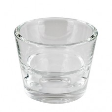 """Candle holder, glass round Ø 80 mm · 65 mm crystal clear """"Two in One"""""""