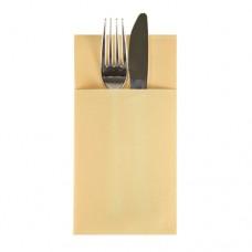 50 Bags for cutlery 1/6 fold 40 cm x 30 cm cream Airlaid-napkin