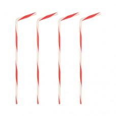40 Flexible drinking straws Ø 5 mm · 21 cm red/white turned