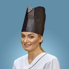 "10 Chef`s hat 23 cm x 27.5 cm black ""Provence"" adjustable sizes"