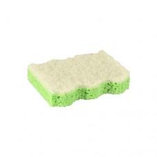 5 Pan sponges, fleece 9.5 cm x 6.4 cm x 2 cm green