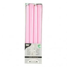 8 Taper candles Ø 2.2 cm · 25 cm light pink of 100% stearin