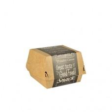 "50 Burgerbox made of fresh-fibre cardboard ""pure"" 7 cm x 9 cm x 9 cm ""Good Food"" small"