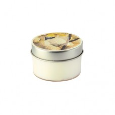 Scented candle in polycarbonate cup Ø 70 mm · 40 mm cream - vanilla with metal lid