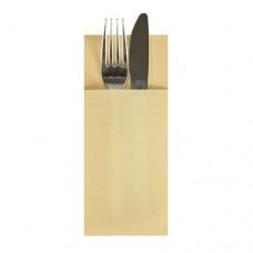 480 Cutlery sleeves, airlaid 1/8 fold 40 cm x 33 cm cream