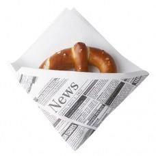 "50 Snack napkins, cloth-like, airlaid 1/4 fold 32.5 cm x 30.5 cm white ""Newsprint"""