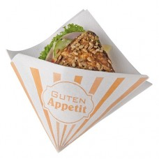 "50 Snack napkins, cloth-like, airlaid 1/4 fold 32.5 cm x 30.5 cm white ""Enjoy your meal"""