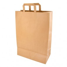 Carrier bags, paper 44 cm x 32 cm x 17 cm brown with handle