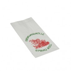 """100 Bag for spring roll, Paper with alu inlay 24 cm x 13 cm x 6 cm white """"China Drache"""" 1/2"""